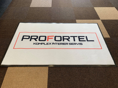 Logová rohož pro firmu ProFortel jsme dodávali v původní kvalitě 198 Logo Superior.