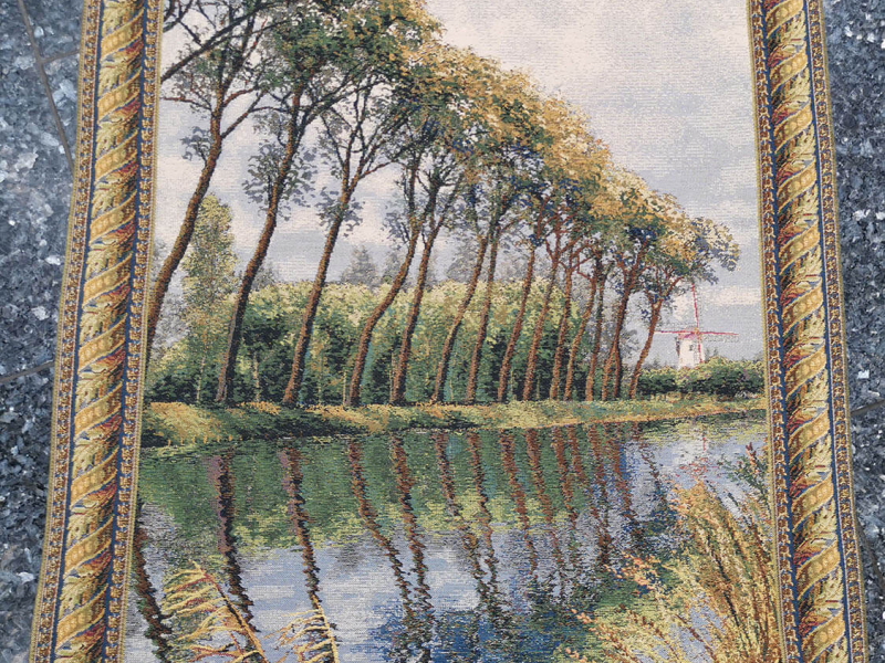 Canal in Flanders - Mill