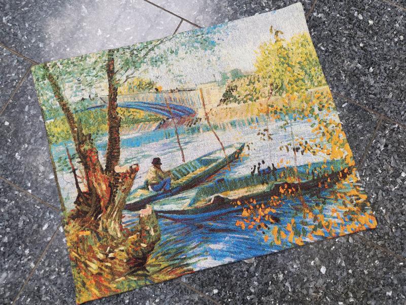 Vincent Van Gogh - Angler and boat
