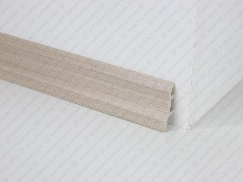 Soklová lišta USL 50 barva W063 šedá písková