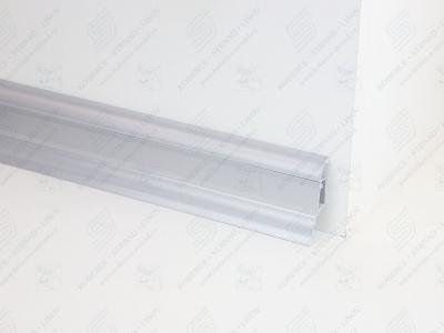 Soklová podlahová lišta Döllken SLK 50 barva 436A alu metalic