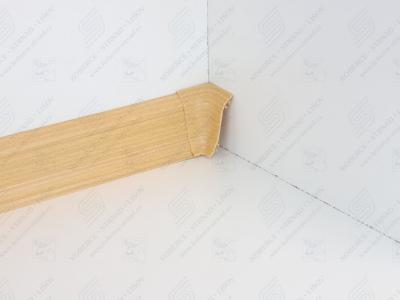Soklová podlahová lišta Döllken SLK 50 barva W136 buk žlutý + vnitřní roh (kout)