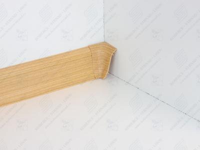 Soklová podlahová lišta Döllken SLK 50 barva W169 buk Corona + vnitřní roh (kout)