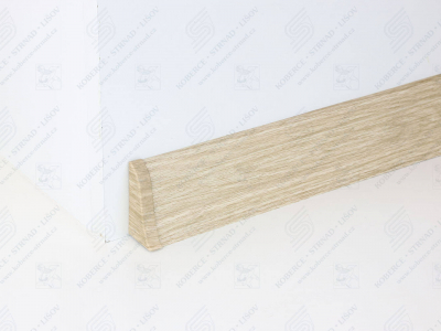 Soklová podlahová lišta Döllken SLK 50 dekor W461 Dub Shiro + ukončení levé