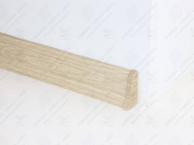 Soklová podlahová lišta Döllken SLK 50 dekor W461 Dub Shiro + ukončení pravé