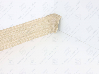 Soklová podlahová lišta Döllken SLK 50 dekor W461 Dub Shiro + vnitřní roh (kout)