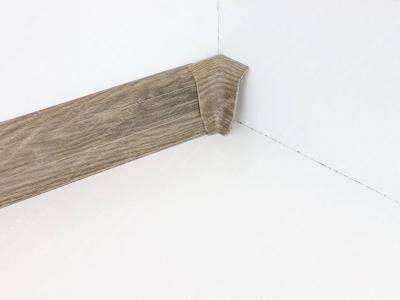 Soklová podlahová lišta Döllken SLK 50 dekor W466 Dub lávový + vnitřní roh (kout)